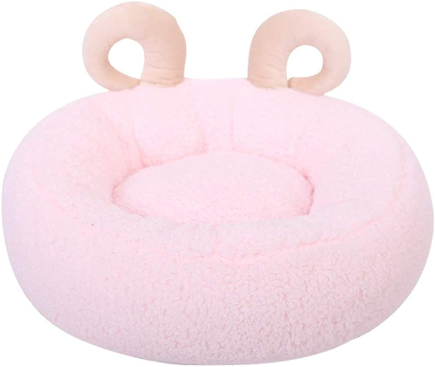,Warmth and SecurityCute Horn Shaped Round Pet Bedfor for Cats or Small Dogs,Multiple colors Available,Breathable Pet Bed Premium (color   Pink)