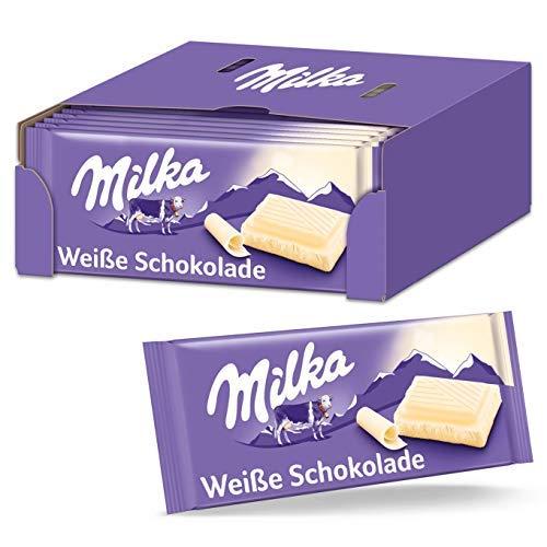 Milka Weiße Schokolade 22 x 100g, Zartschmelzende weiße Milka Tafel Schokolade