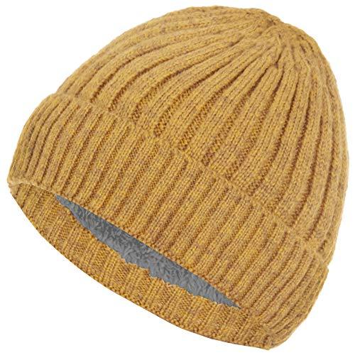 Faera warm gevoerde muts winterse muts gebreid met beanie-fleece voering heren dames muts one size fits all