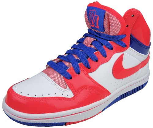 Nike Damen Sneaker Court Force High Weiß/Pink/Blau, Gr. 37.5