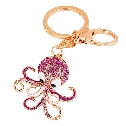 Verlike Joli pendentif en forme de pieuvre - Rose rouge