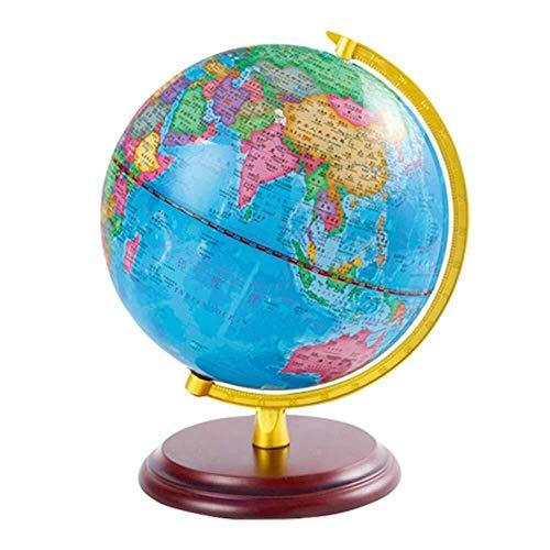 LULUTING 25cm Beleuchtet Weltkugel, LED-Beleuchtung Kartographie Anzeigen Politisches Mapping, for pädagogischen Geschenk-Night-Stand-Dekor