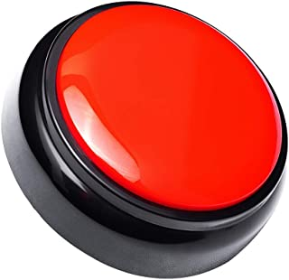 Neutral Sound Talking Button Record Sound Box Answer Buzzers 30 Seconds Recording (Red and Black0)
