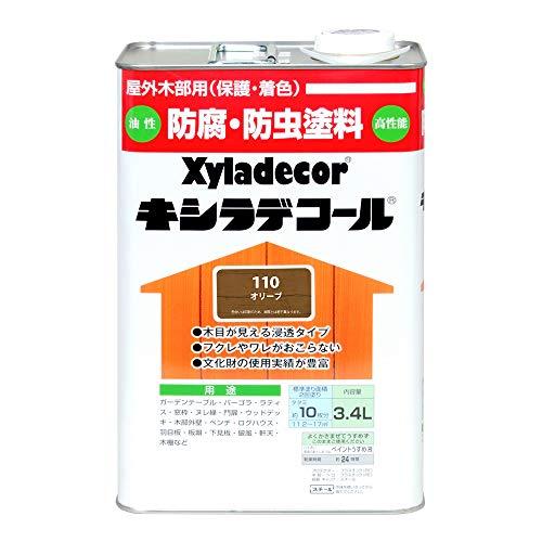 大阪ガスケミカル株式会社 キシラデコール オリーブ 3.4L