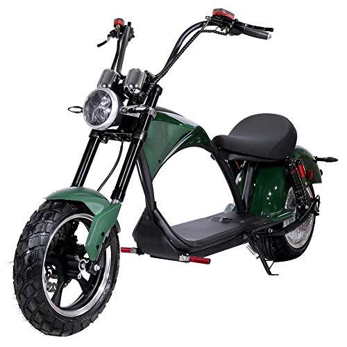 COKECO Elektroscooter Pendelarbeit Oder Autounterhaltung,2000W Hochleistungsmotor 60V20A Lithiumbatterie Erwachsener Zweirad-Elektro-Harley-Auto Maximale Last 200 Kg Motorrad Harley-Auto