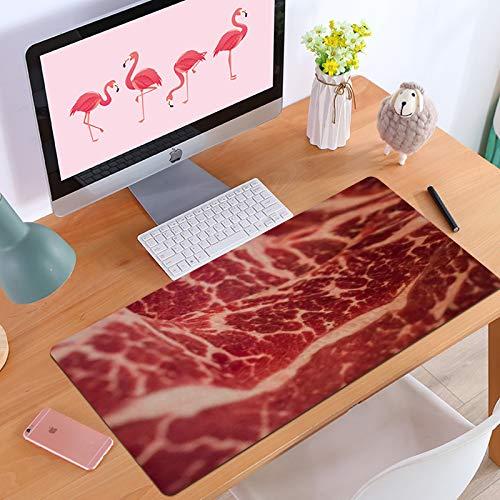Gaming-Mauspad Tranches de Steak marbré Texture Nutrition japonaise Avec du boeuf Wagyu Textures Rouges crues Viande alimentaire,Anti-Rutsch-Mauspad mit spezieller Oberfläche