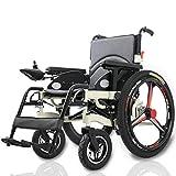 MSCOOL Elektro-Rollstuhl Für Behinderte Senioren, Folding Portable Power Rollstuhl, Aluminium-Legierung Durable Rollstuhl, 15 / 25AH Lithium-Batterie,25ahlithiumbattery -