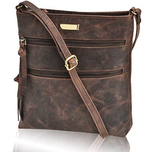 100% GENUINE LEATHER: Forget the feel of PU and faux leather with our authentic cowhide leather crossbody bag. Crafted from 100% oil-rich genuine leather, our Mocha Brown crossbody bag adds a fashionable touch to your wardrobe. The supreme quality ba...