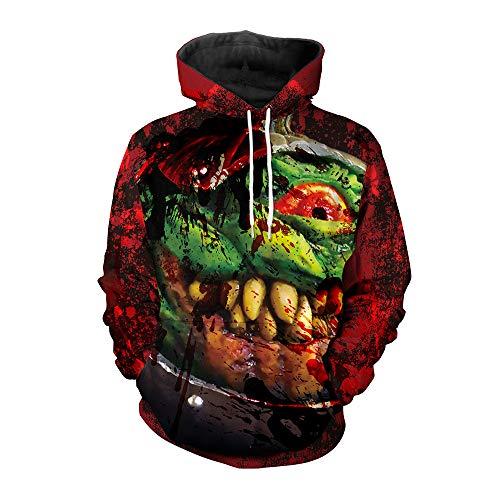 Fairy jj Herbst und Winter Hoodie Herren 3D Digitaldruck Sweatshirt COS Terror Hoodie mit Kapuze