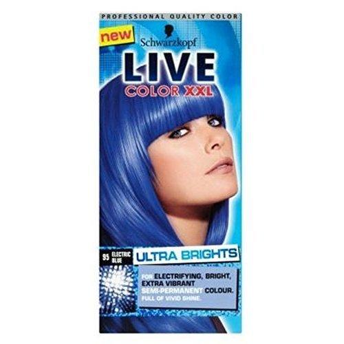 Schwarzkopf Color Live XXL Ultra Brights 95 Bleu Électrique De Teintures Capillaires Bleu Semi-Permanente