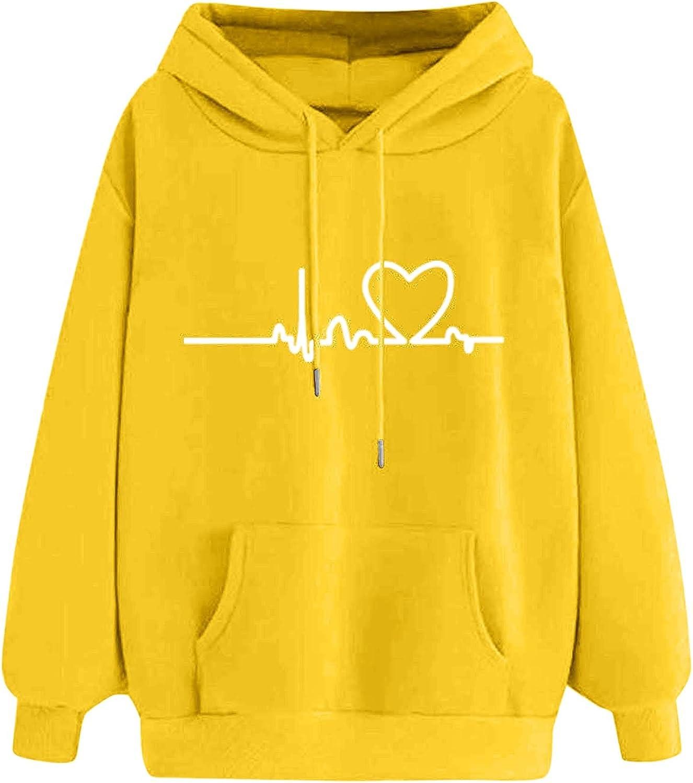 HIRIRI Pullover Hoodies Industry No. 1 Sales for Women Lightweight Printing Heartbeat