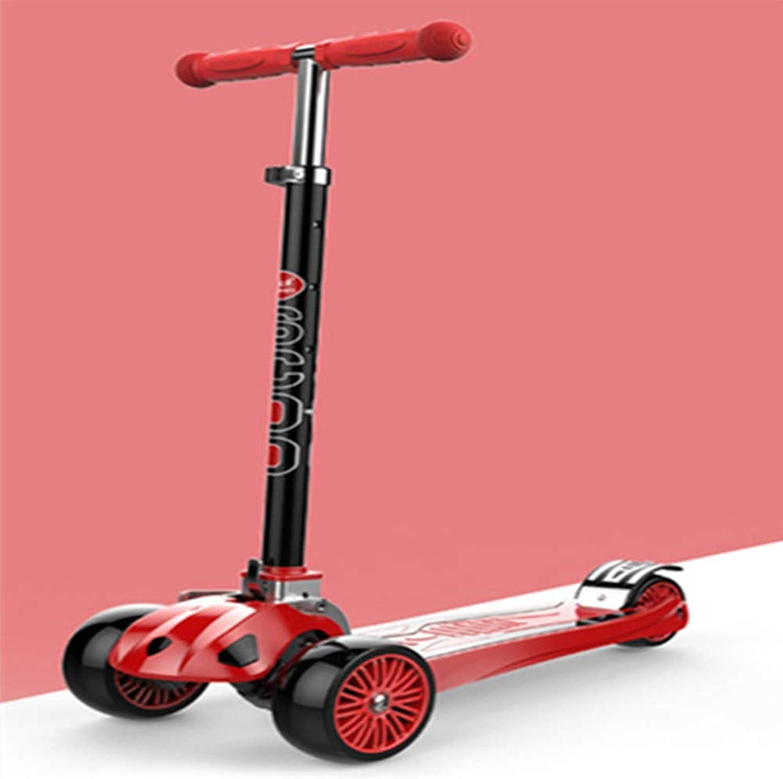 el estilo clásico YL Los Niños al al al Aire Libre Scooter Elevador Plegable de aleación de Aluminio Rueda de Flash de Tres Ruedas Scooter Pedal Scooter Regalo de cumpleaños,rojo  respuestas rápidas