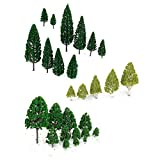 ROSENICE Modell Bäume Zug Eisenbahn Landschaft, 27pcs -