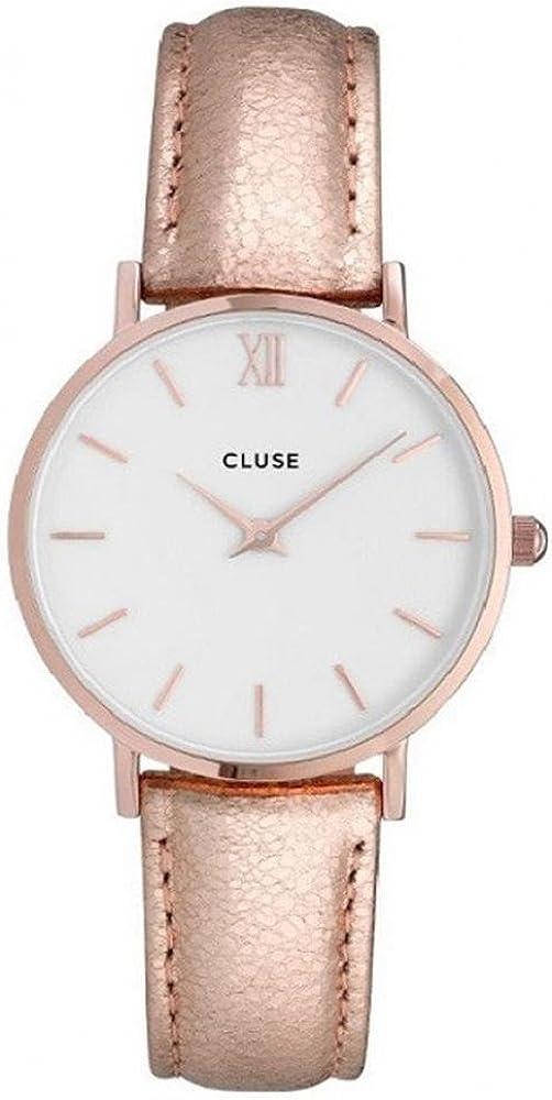 Cluse Reloj Analógico Automático para Mujer con Correa de Cuero – CL30038
