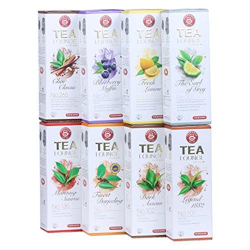 Teekanne Tealounge Kapseln - Schwarztee Sortiment mit 8 Sorten (64 Kapseln)