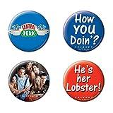 Ata-Boy Friends Assortment #1 Set of 4 1.25' Collectible Buttons