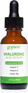 goPure Hyaluronic Acid Serum for Face - Anti Aging Serum and Hyperpigmentation Treatment Dark Spot Remover for Face - Anti...