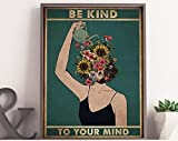 AZSTEEL Be Kind to Your Mind Poster | Poster No Frame Board