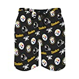 Pittsburgh Steelers Men Swim Trunks,Quick Dry Beach Shorts with...