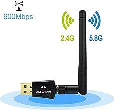 ANEWKODI 600Mbps Dual Band (2.4G/150Mbps+5G/433Mbps) Wireless USB WiFi Adapter,802.11N/G/B Antenna Network LAN Card for Windows XP/Vista/7/8/8.1/10 (32/64bits) MAC OS