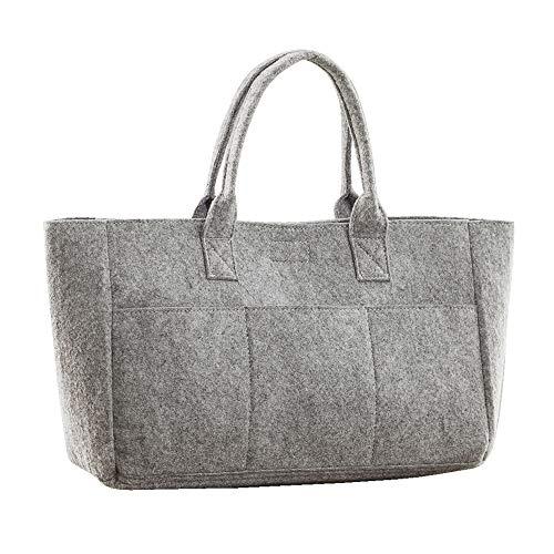 Bags - sac de courses à poches (Lot de 2) (Taille unique) (Gris foncé)
