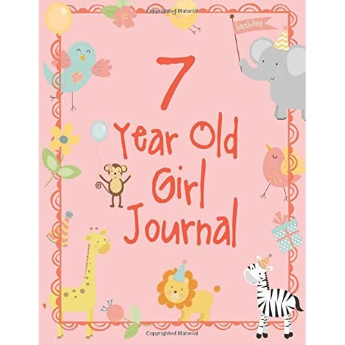Seven Year Old Girl Journal Blank And Wide Ruled Cute For Girls 7