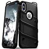 Techstudio Back Case Armor Rugged Shockproof Drop Tested Cover for iPhone X and XS -5.8 Inch (Black)