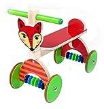 Hess Holzspielzeug 31178 - Rutscher aus Holz, Serie Fuchs, mit Gummibereifung, handgefertigt, für Kinder ab 12 Monaten, ca. 60 x 40 x 30 cm, als Lauflernhilfe...