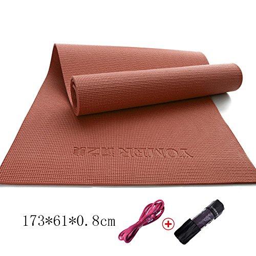 8 mm di spessore del PVC antisdrucciolevole Tappeto di yoga insapore e coperta di yoga di sport e di forma fisica