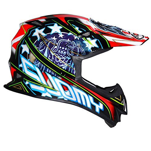 Suomy KSMJ0023.2 Helm für Moto-Cross MR Jump Eagle, Schwarz