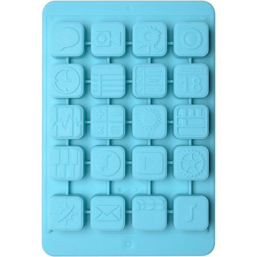 La Chaise Longue 34-1K-015T Moule à glaçons Tablette iPad IcePad Bleu turquoise Silicone H2 x 13,4 x 19,9 cm