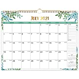 2021-2022 Calendar - Monthly Wall Calendar 2021-2022 starts at July 2021 not January 2021 with Julian Dates, (Jul. 2021-Dec. 2022) Twin-Wire Binding, Thick Paper Perfect for Organizing