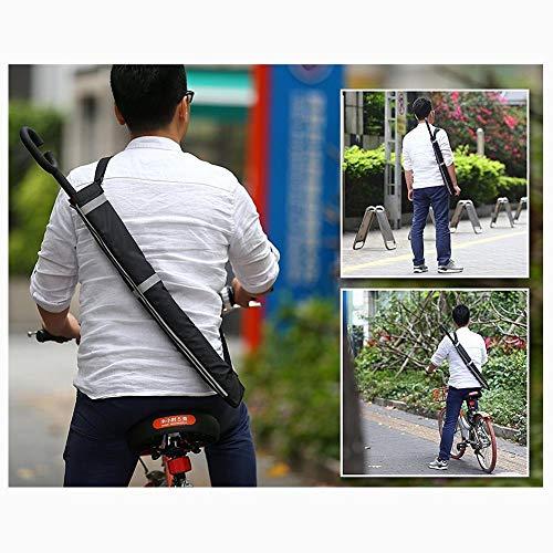 hinffinity Regenschirmtasche mit reflektierenden Sicherheitsstreifen, 600D Oxford, wasserdicht und staubdicht, doppelt umgekehrt, 1 Stück