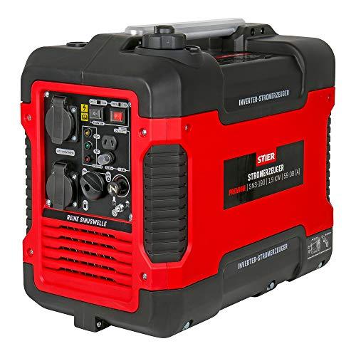 STIER Stromerzeuger Premium SNS-190 1,9 kW 59 dB(A), Strom Generator, 4l Tankvolumen, 21,5kg, leise, Inverter Stromerzeuger