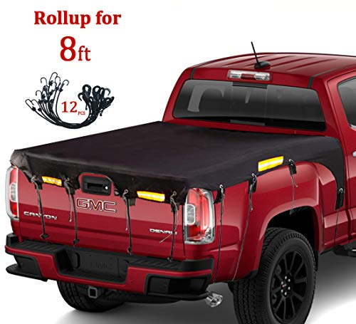 Coverify Truck Bed Cover Long Bed (8′ Box) for Ford F150/F250/F350/F450 Chevy Silverado GMC Sierra Dodge Ram Toyota Tundra Truck Bed Tarp Super Duty Cargo Net