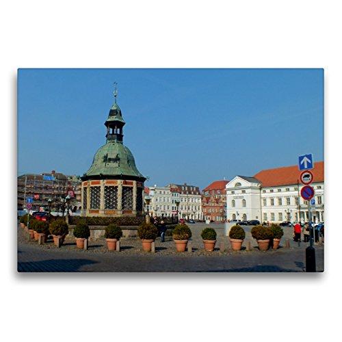 Toile textile de qualité supérieure - 75 cm x 50 cm - Paysage du marché Wismarer Wismarer - Image murale sur châssis, image prête sur le marché (CALVENDO)