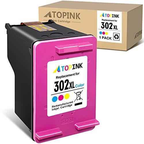 ATOPINK - Cartucho de tinta remanufacturado para HP 302 302XL para HP Deskjet 1110 2130 3632 3630 2132 Officejet 5230 5220 3831 3830 3832 4650 Envy 4527 4520(1 )