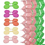 QLOUNI 10pcs Multicolores Guirnaldas de Papel de Trébol de Cuatro Hojas Reutilizables para Decoración Boda, Guardería, Novia, Ducha,Fiestas