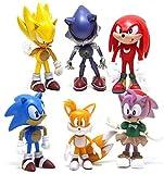 Sonic Cake Topper, BKJJ 6 Piezas Decoración De Pastel De Sonic Cake Topper Hedgehog Decoración, Deco...