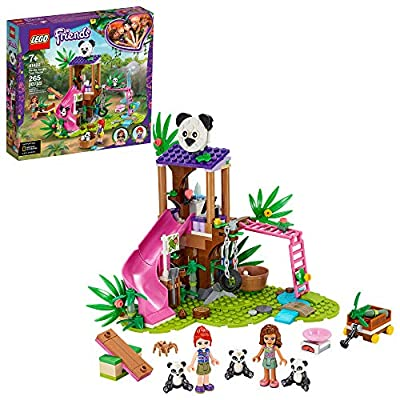 LEGO Friends Panda Jungle Tree House 41422 Building Toy; Includes 3 Panda Minifigures for KidsWho Love Wildlife Animals Friends Mia and Olivia, New 2020 (265 Pieces) by LEGO