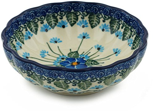 Polish Pottery Bowl 5-inch Forget Me Not made by Ceramika Artystyczna