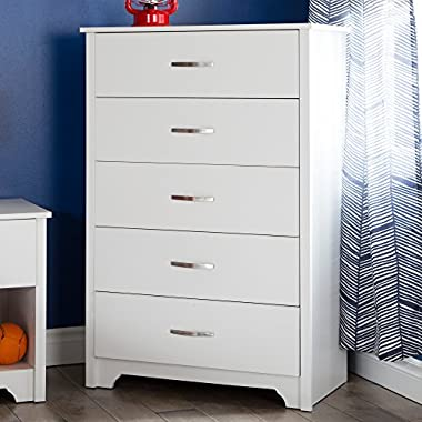 South Shore Fusion 5-Drawer Chest, Pure White