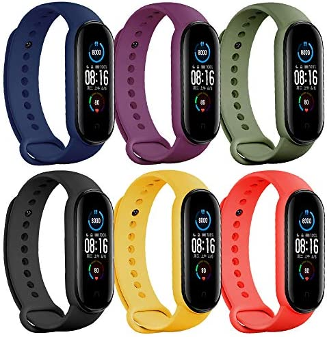 Baaletc Bands for Mi Band 5 Strap/Amazfit Band 5 Strap Replacement Wristband Xiaomi Mi Band 5 Accessories Watch Band for Men Women Xiaomi 5 Wrist Band
