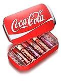 Markwins - Coca Cola Geschenk-Dose mit 6 Lippenpflegestiften in verschiedenen Geschmacksrichtungen
