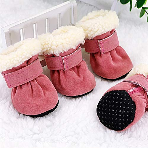DHDHWL Chien Chaussures 4pcs Pet Dog Chaussures imperméables Bottes d'hiver for Chien Chaussettes Anti-dérapant Chiot Cat Pluie Neige Bottillons Chaussures for Petits Chiens Chihuahua #HJ
