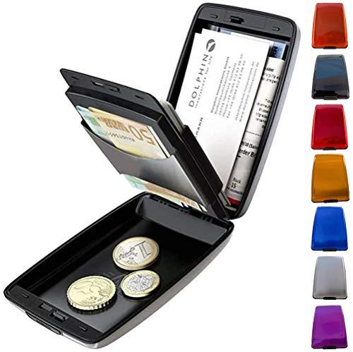 RFID Non-Scan Metall Geldbörse Geldklammer Geldbörse Multifunktions-Anti-Diebstahl-Geldbörse Mehrfarbiges Visitenkartenetui
