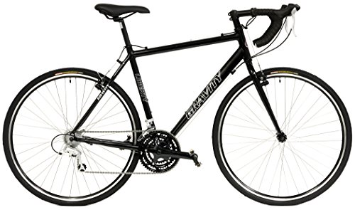 """Gravity Liberty CX 24 Speed Aluminum Cyclocross Bike (Black, 42cm fits 4'11"""" up to 5'2"""")"""
