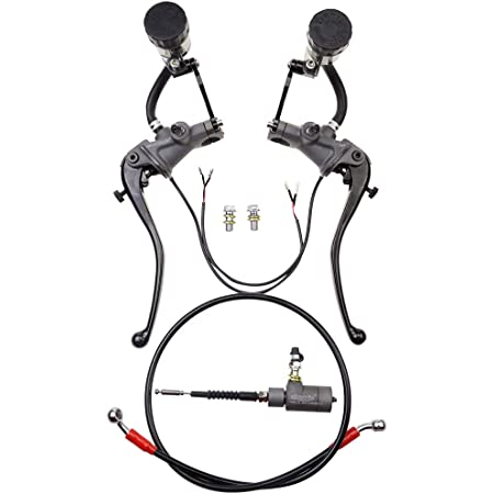"""7//8/"""" Motorcycle ATV Handle Brake Pump Lever Master Cylinder Clutch Kit w//Oil Cup"""