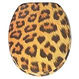 Sedile WC, grande scelta di belli sedili WC da legno robusto e di alta qualità (Leopardo)...