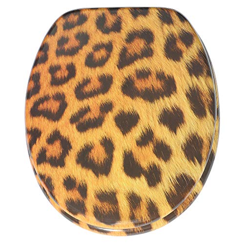 Sedile WC, grande scelta di belli sedili WC da legno robusto e di alta qualità (Leopardo)